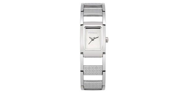 Dámské stříbrné náramkové hodinky Morgan de Toi