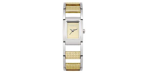 Dámské zlato-stříbrné náramkové hodinky Morgan de Toi