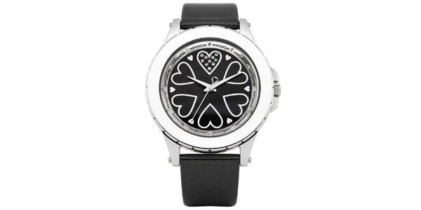 Dámské černé hodinky Morgan de Toi