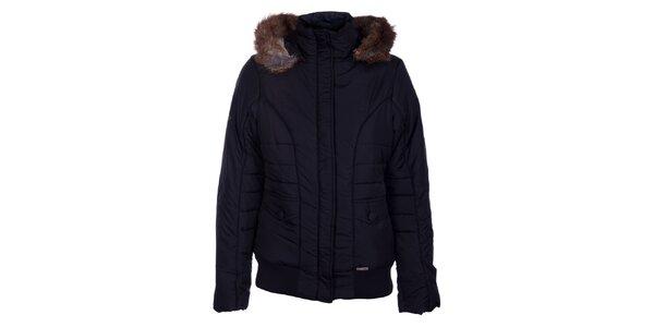 Dámská černá zimní bunda Loap s kožíškem