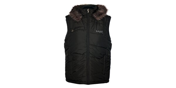 Pánské černá prošívaná vesta Loap