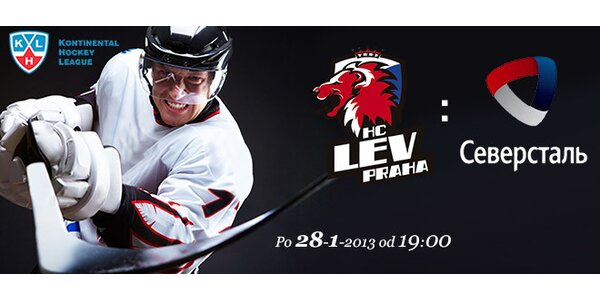 Vstupenky na KHL: LEV Praha-Severstal Čerepovec