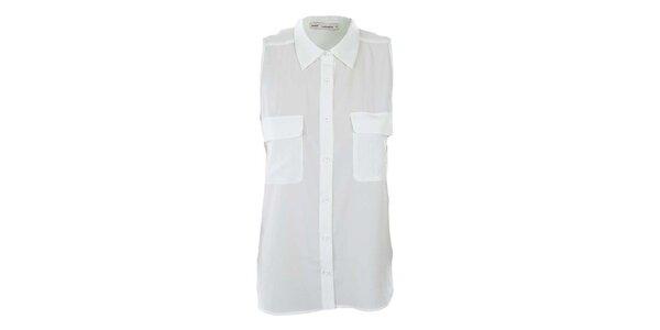 Dámská bílá košile bez rukávů Next