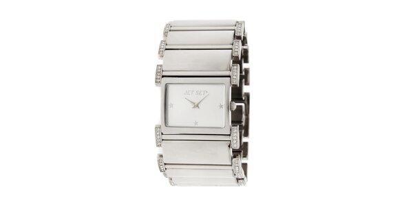 Dámské náramkové hodinky Jet Set s kamínky