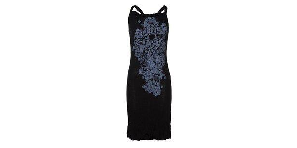 Dámské bavlněné šaty Lois s potiskem a korálky