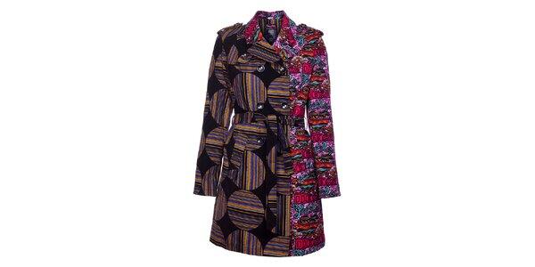 Dámský zimní pestrobarevný kabát Custo Barcelona