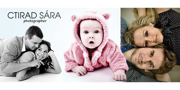 Rodinné fotografie, fotoproměna i 2 hodiny profi focení