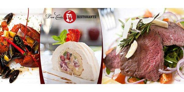 Veškeré jídlo v ristorante Don Ciccio