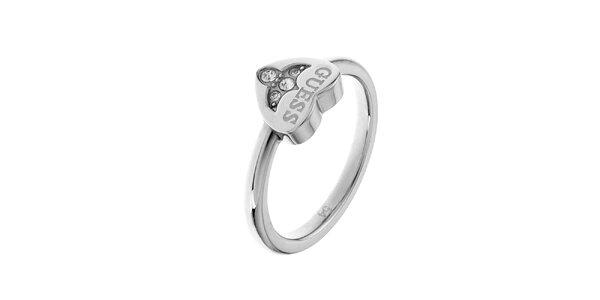 Dámský ocelový prsten Guess se srdíčkem