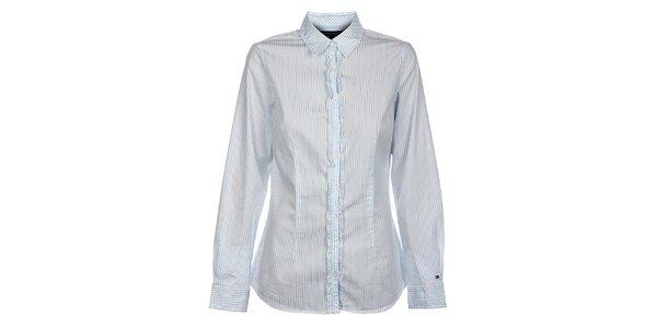 Dámská bílá proužkovaná košile Tommy Hilfiger