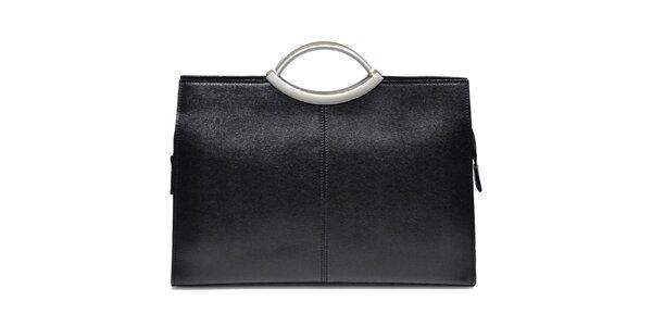 Dámská kožená kabelka v černé barvě Giulia