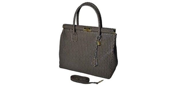 Dámská šedá velká kufříková kabelka Giulia