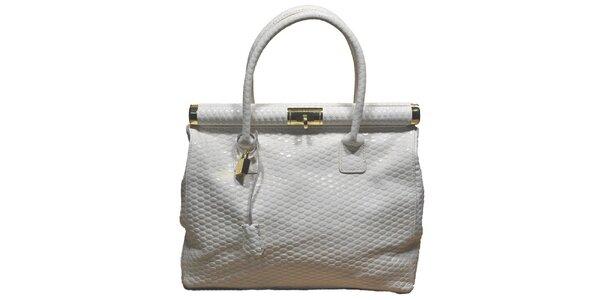 Dámská bílá velká kufříková kabelka Giulia