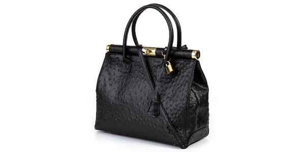 Dámská černá velká kufříková kabelka Giulia