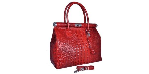 Dámská červená velká kufříková kabelka Giulia