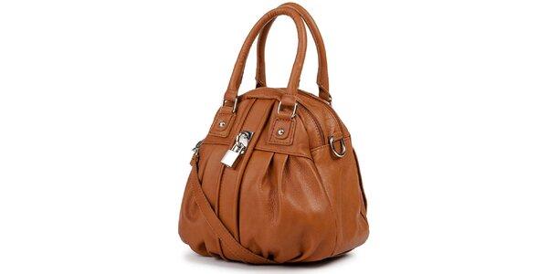 Dámská hnědá kabelka se zámečkem Giulia