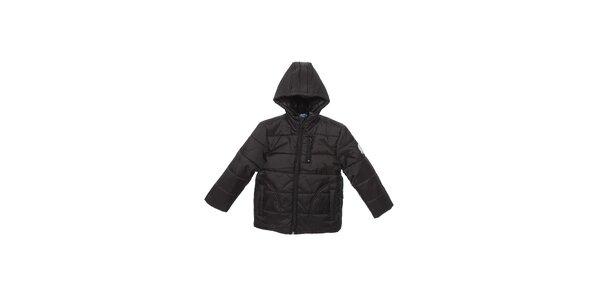 Dětská černá prošívaná zimní bunda Buby