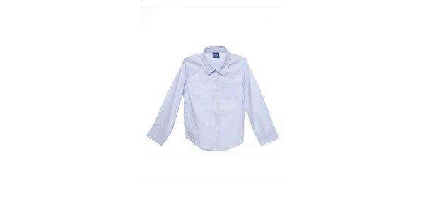 Dětská bílá košile Buby s modrým proužkem