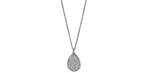Dámský náhrdelník s oválným přívěskem Fossil