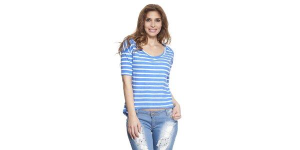 Dámské modro-bíle pruhované tričko Janis