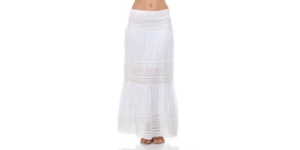 Dámská dlouhá bílá sukně Kool