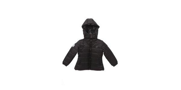 Dětská černá zimní prošívaná bunda Buby