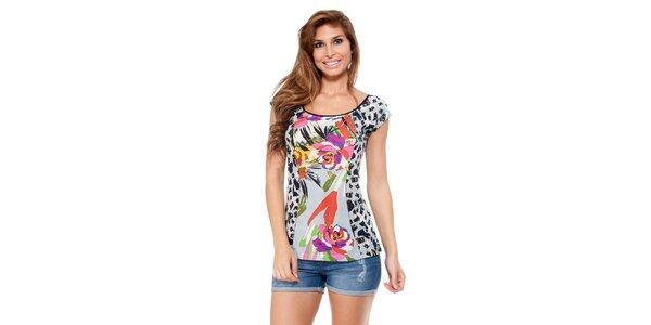 Dámské tričko s barevným potiskem Kool