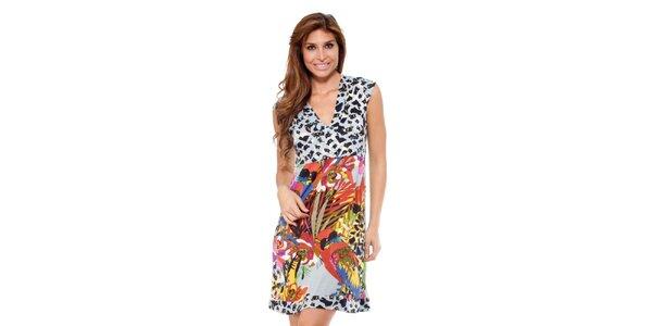 Dámské šaty s barevnou sukní Kool