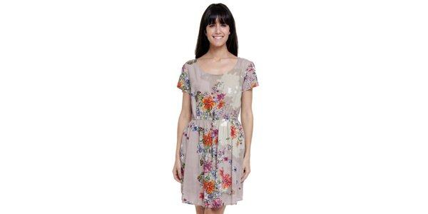 Dámské krátké šaty s květinovým potiskem Janis