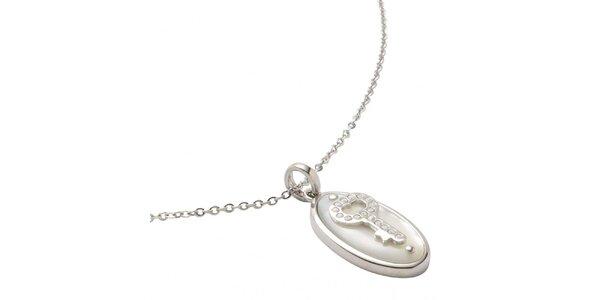 Dámský náhrdelník s perleťovým přívěskem Fossil
