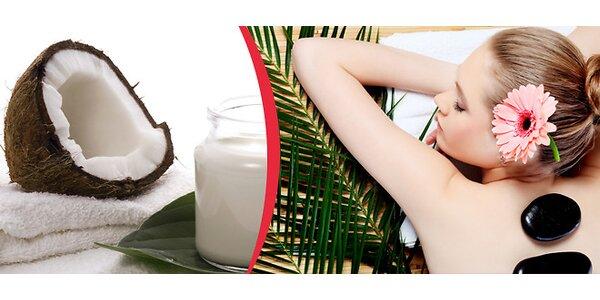Masáž lávovými kameny nebo kokosová masáž