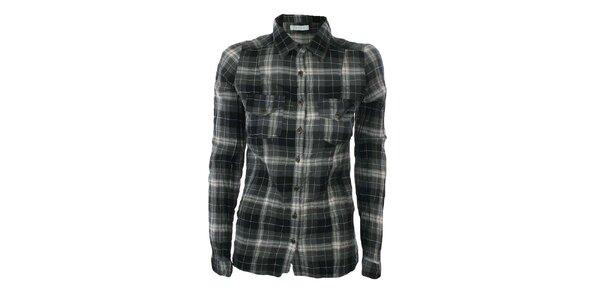 Dámská šedo-černá károvaná košile Gémo
