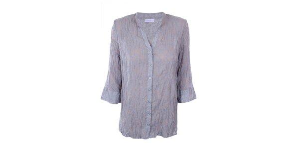 Dámská šedá košile s potiskem Gémo