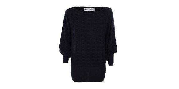 Dámský černý dlouhý svetr Bosebelking fashion