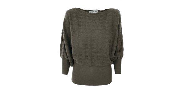 Dámský khaki svetr Bosebelking fashion