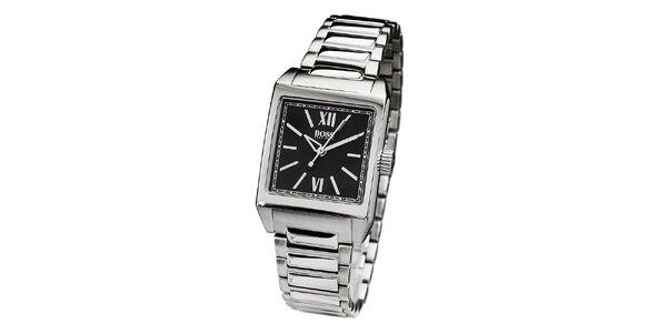 Pánské stříbrné hodinky s římskými číslicemi Hugo Boss