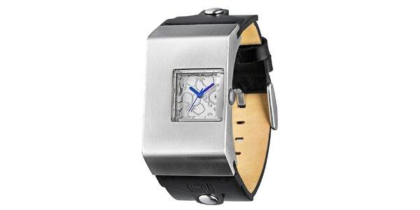 Dámské náramkové hodinky s modrými ručičkami The One