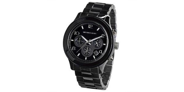 Pánské černé hodinky s chronografem Michael Kors