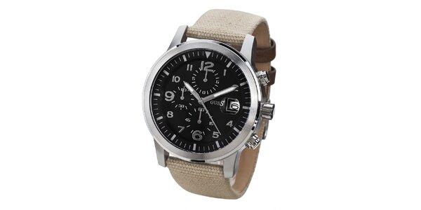 Pánské hodinky s ocelovým pouzdrem a chronografem Guess