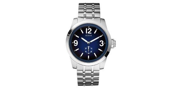 Pánské stříbrné hodinky z nerezové oceli Guess