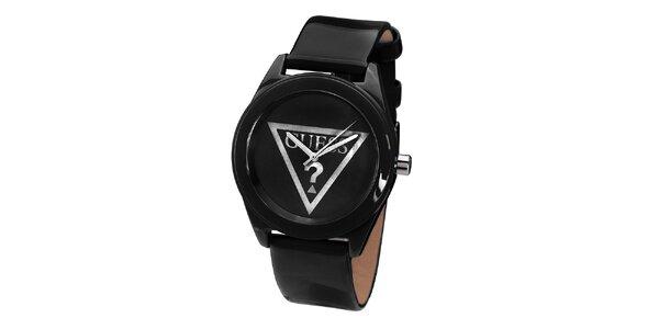 Dámské černé minimalistické hodinky Guess