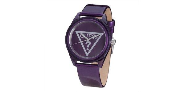Dámské fialové hodinky Guess