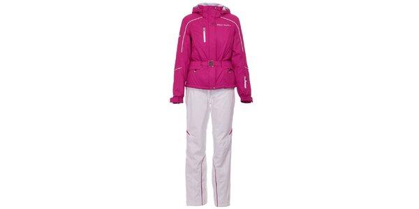 Dámská růžovo-bílá lyžařská souprava West Scout s membránou