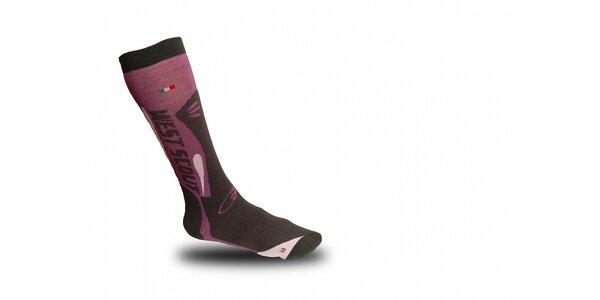 Růžovo-šedé lyžařské ponožky West Scout