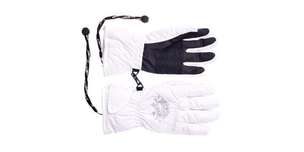 Dívčí bílé lyžařské rukavice West Scout