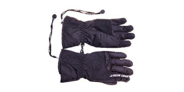 Dámské černé lyžařské rukavice West Scout s membránou