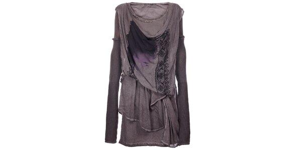 Dámské antracitové šaty Angels Never Die