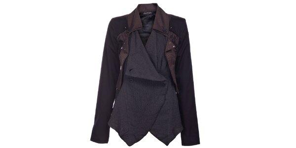Dámský černo-hnědý kabátek Angels Never Die
