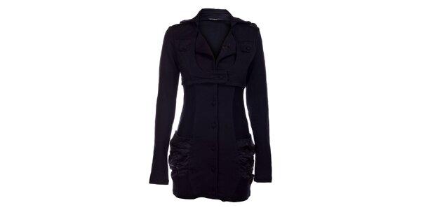 Dámský černý bavlněný kabát Angels Never Die