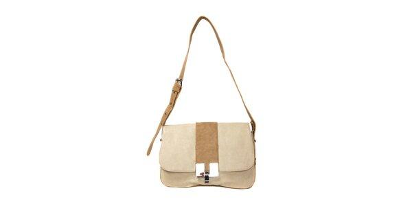 Menší béžová kabelka značky Siva
